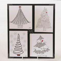 zentangle christmas cards | Visit oldhallcrafts.co.uk