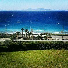 Ialisos bay, Rhodes island Greece. I love it when it's windy!!!