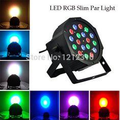 DHL Free 6PCS/LOT 18 Led Stage Light High Power RGB Par Light With DMX512 Master Slave Led Flat DJ Equipments Controller #Affiliate