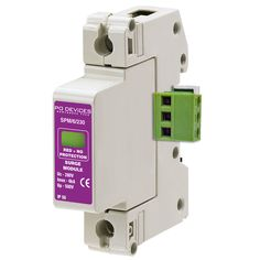 A1SPM/6/230R - 6kA Single Phase with Remote Connector (L-N, L-E) - Type 2 Test Class II - This modular #surgeprotection #device provides #protection of equipment connected to incoming low voltage AC power supplies against the damaging effects of transient over voltages caused by local #lightning strikes, or the switching of electrical inductive or capacitive loads.