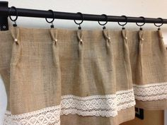 Hey, I found this really awesome Etsy listing at https://www.etsy.com/listing/174616257/pearllace-burlap-valance-home-and