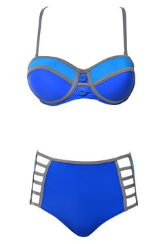A Pool Day Blue Two Piece Swimsuit – Fashion Effect Store