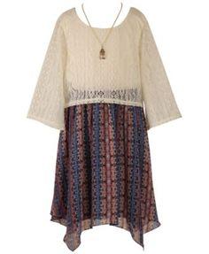 Speechless Girls' Popover Dress