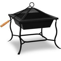 Fire bowl basket grill garden brazier fire pit heater stainless steel 45cmII   eBay