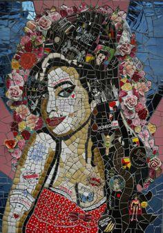 @PinFantasy - Susan Elliott - Amy Winehouse, mosaics ~~ For more: - ✯ http://www.pinterest.com/PinFantasy/arte-~-con-mosaicos-mosaic-art/