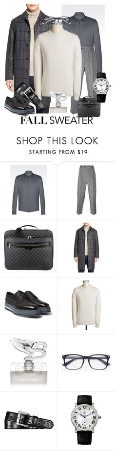 """fall sweater"" by miha-jez ❤ liked on Polyvore featuring Giorgio Armani, LC23, Louis Vuitton, MACKINTOSH, Prada, Bentley, Ralph Lauren, Cartier, men's fashion and menswear"