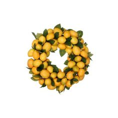 California Floral & Home Lemon Wreath found on Polyvore
