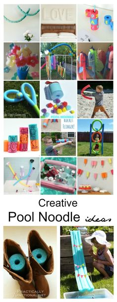 Summer fun Ideas| Did you know that Pool Noodles are not just for the swimming pool? I can't believe how many other uses there are for Pool Noodles! Sharing some Creative Pool Noodle Ideas that are sure to get you inspired.