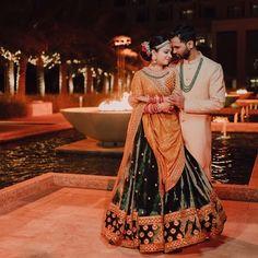New Lehenga, Green Lehenga, Bridal Lehenga, Wedding Outfits For Groom, Wedding Poses, Wedding Photoshoot, Indian Attire, Indian Outfits, Pakistani Outfits