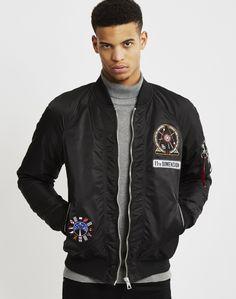 Eleven Paris Space Patch MA1 Bomber Jacket Black | Shop men's clothing at The Idle Man Space Patch, Eleven Paris, Black Bomber Jacket, Good Company, Men's Clothing, Contemporary Style, Parisian, Patches, Man Shop