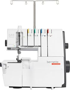 The low-cost overlocker for beginners including 15 stitchesThe bernette Funlock 44 offers numerous practical functions, giving you a straightforward introduction to overlocking.The Funlock 44 offers 15 stitches and provides a compact set of stitches that allows you to do all types of overlock sewing. Bernina Serger, Serger Sewing, Sewing Tools, Sewing Projects, Embroidery For Beginners, Sewing For Beginners, Overlock Machine, Thread Holder, Embroidery Supplies