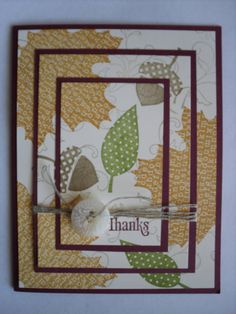 Handmade Stampin Up Fall Thanksgiving Card by SillyDawgDesigns, $3.00
