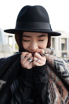 Loving the rings! Streetstyle: Irene Kim at Seoul Fashion Week S/S 2013 shot by Kim Jinyong