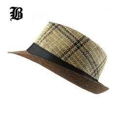 e2505791d03  FLB  Hot 2018 Fashion Summer Beach Hat Large Brim Jazz Sun Hat Casual  Unisex Panama Hat Straw Women Men Cap With Black Price history.