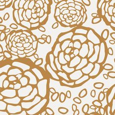 Petal Pusher wallpaper in white and Gold. Loving this new Oh Joy! collection at Hygge & West.