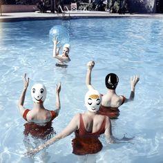 Vintage Pictures of Models Wearing Funny Bathing Caps – Fubiz Media