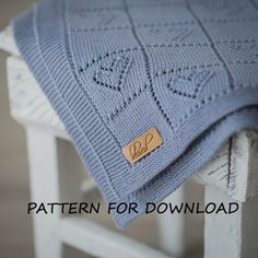 This listing is for purchase of the PATTERN (knitting instructions) in english, its downloaded as a PDF file. You will need a program such as AdobeReader to access it (see adobe.com). The pattern is available to download instantly after payment. Written and sent by post version of this pattern is also available at: https://www.etsy.com/listing/239815415/knitted-baby-blanket-written-pattern?ref=shop_home_active_1 I was inspired to create this blanket as I was ex...