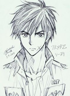 """Tiger And Bunny"" Manga Artist Hiroshi Ueda sketches Sosuke Sagara from Full Metal Panic! (2014)"