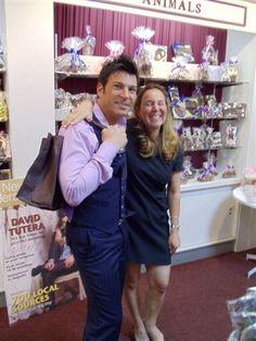 David Tutera and Wendy Taffet at Enjou Chocolat