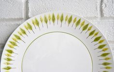 Mid Century Modern Leaf Plate - would love to find flatware with a pattern like this