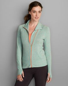 Women's Flecked Mockneck Cardigan Sweater | Eddie Bauer