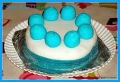 Tarta Blue Velvet con ganaché de chocolate blanco