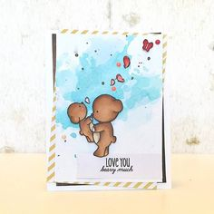 Card created by designer Samantha Mann using the Sweet Stamp Shop Beary Much stamp set.