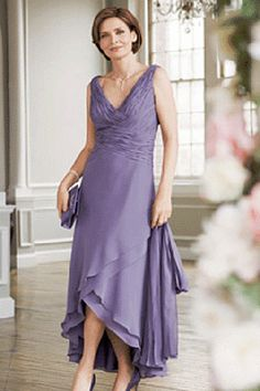 tea length mother of the bride dress