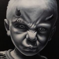 The devil seed Badass Drawings, Dark Art Drawings, Colorful Drawings, Tattoo Drawings, Arte Cholo, Cholo Art, Chicano Art, Arte Horror, Horror Art