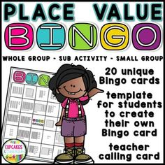 Place Value Bingo - Back to School ReviewIncluded: twenty unique Bingo cards - print and play! template for students to create their own Bingo card teacher/small group calling cardPlace Value Bingo is a fun whole-group activity for review before a test and an engaging small group activity.