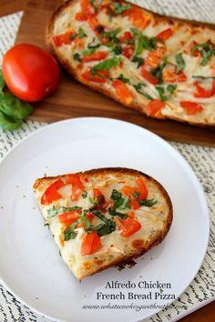 Alfredo Chicken French Bread Pizza