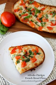 Alfredo Chicken French Bread Pizza