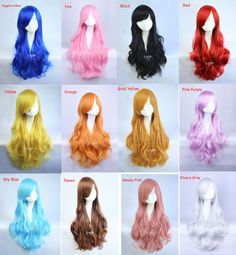 Hey, I found this really awesome Etsy listing at https://www.etsy.com/listing/183552258/anime-black-pink-red-blue-cosplay-wigs