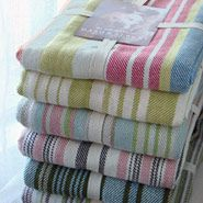 Striped Cotton Throws from C. Post & Co. I love having throws around for those times when a sheet is too thin and blanket is too thick! Quilted Throw Blanket, Bed Curtains, Dash And Albert, Bath Linens, Cotton Throws, Home Decor Furniture, Throw Rugs, Striped Throws, Linen Bedding