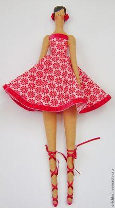 Куклы Тильды ручной работы. Ярмарка Мастеров - ручная работа Тильда балерина. Handmade.