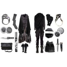 """""""Dark Wood Wanderers"""" by maggiehemlock on Polyvore   Black Forest mori girl and boy"""