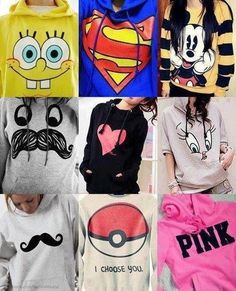 I want the superman and Mikey mouse and pink ad pretty much all of them