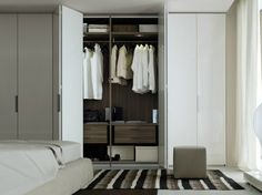 portes de placard pliantes, armoire blanche