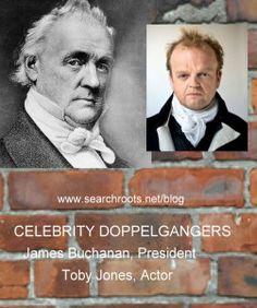 Celebrity Lookalikes: US President James Buchanan, and UK Actor Toby Jones