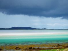Beautiful contrast of colours at North Uist, Scotland Isles