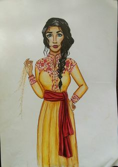 Amani Al'Hiza at shihabian drawing from Rebel of the sands. Drawn with Winsor and Newton Promarkers and a unipin fine liner on Winsor and Newton marker paper.