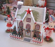 SaturdayFinds - Vintage-Inspired Gifts, Timeless Treasures and More!: Pretty Putz Houses