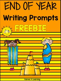 FREEBIE - End of year writing prompts - ideas for writing about summer. Fun Classroom Activities, End Of Year Activities, Writing Activities, End Of School Year, Summer School, Third Grade Writing, Second Grade, Fun Learning, Teaching Kids