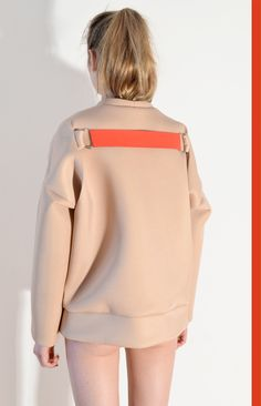 Nude Neopren Sweater | sample-cm | NOT JUST A LABEL
