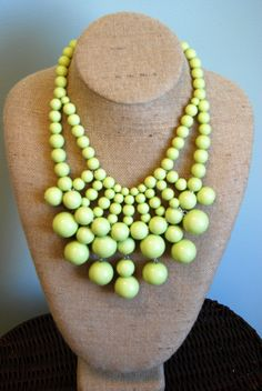 Lime Statement Necklace