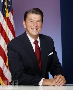 America's 40th president.