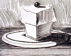 Wayne Thiebaud Lemon Meringue, 1964 From the series, Delights, 1965 Etching and Drypoint on Paper Pierre Auguste Renoir, Pierre Bonnard, Auguste Rodin, Wayne Thiebaud Paintings, Drypoint Etching, Paul Gauguin, Henri Matisse, Art Sketchbook, Famous Artists