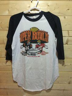 Vintage 1980 s San Francisco 49ers Cincinnati Bengals Super Bowl Raglan T-  Shirt 50 50 c606abda7