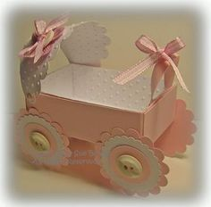 Scrpabooking  Baby carriage