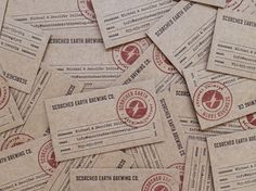 Scorched Earth Brewing Business Card Design by Knoed Creative